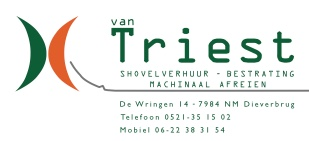 van Triest, Shovel verhuur - Bestrating Machinaal Afreien, De Wringen 14 Dieverbrug